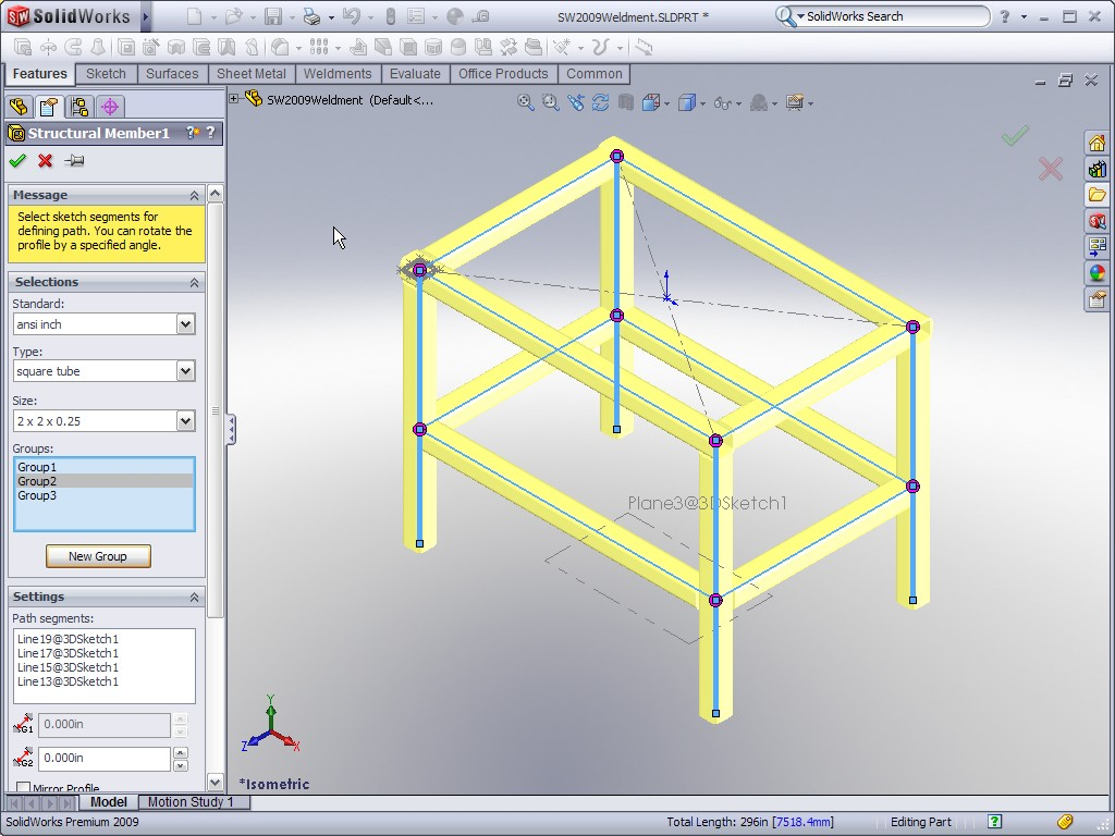 SolidWorks 2009 Weldments Ricky Jordans Blog