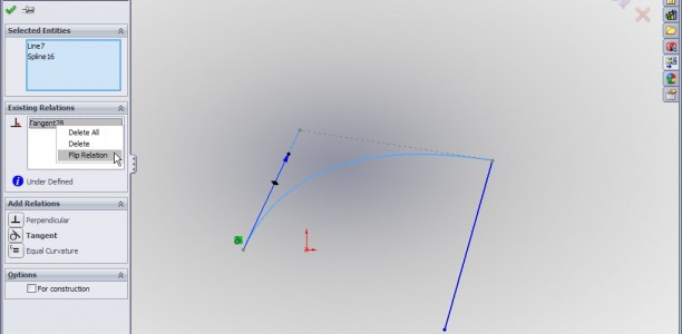 SolidWorks Video Tip: Flippin Tangencies