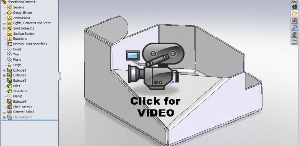 SolidWorks Video Tip:  2009 Convert to Sheet Metal