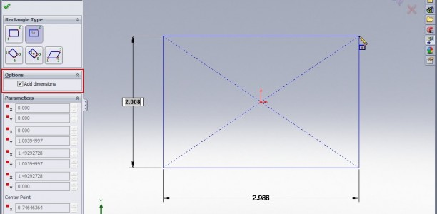 SolidWorks Video Tip:  2009 Numeric Sketch Input