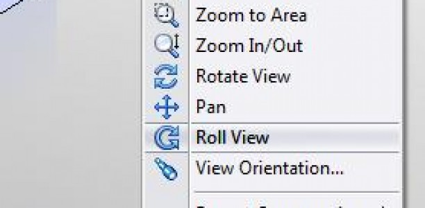 SolidWorks Video Tip: Roll View