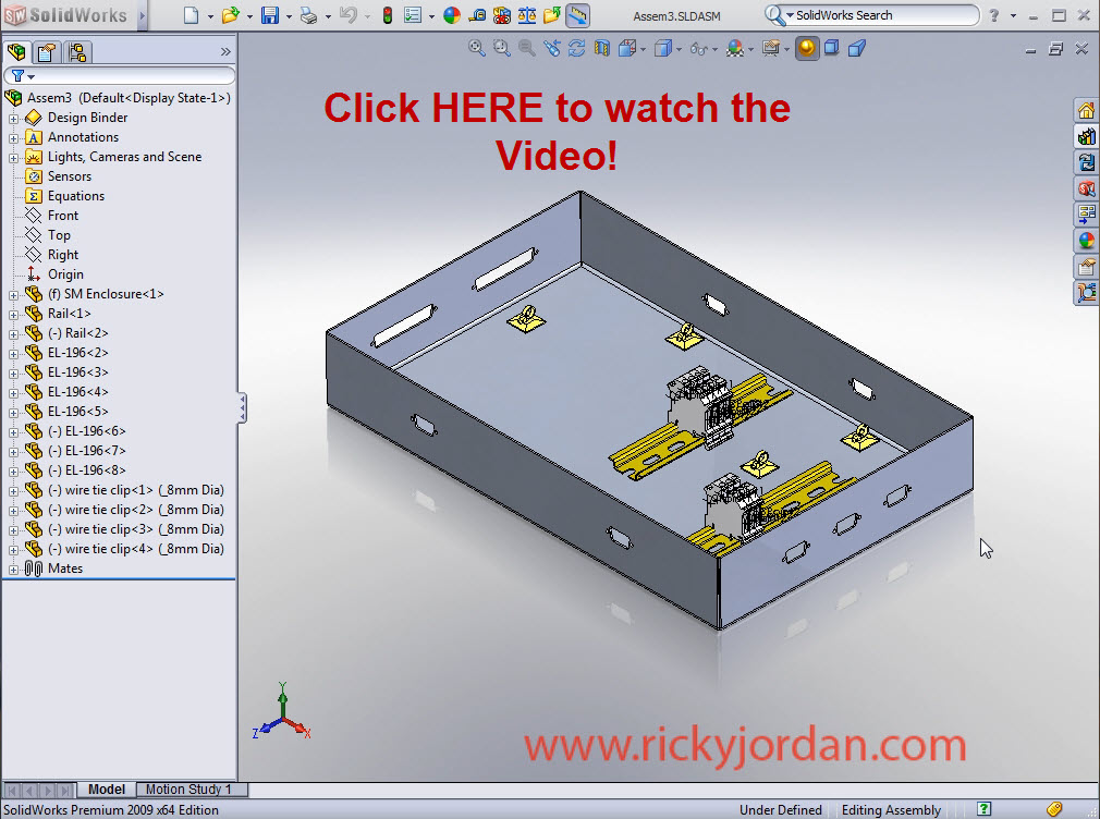 e routing_part1videolink solidworks electrical routing part 1 ricky jordan's blog solidworks wiring harness at bakdesigns.co