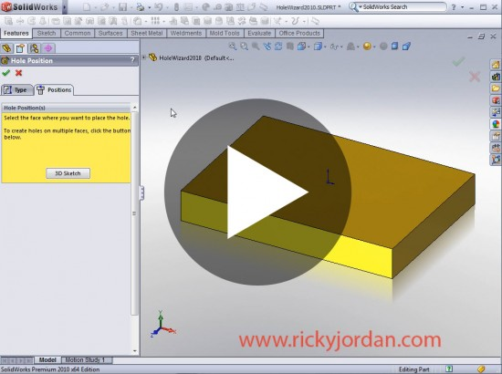 SolidWorks 2010: Hole Wizard! | Ricky Jordan's Blog