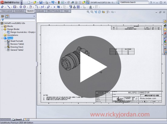 SolidWorks 2010: Awesome Tables! | Ricky Jordan's Blog