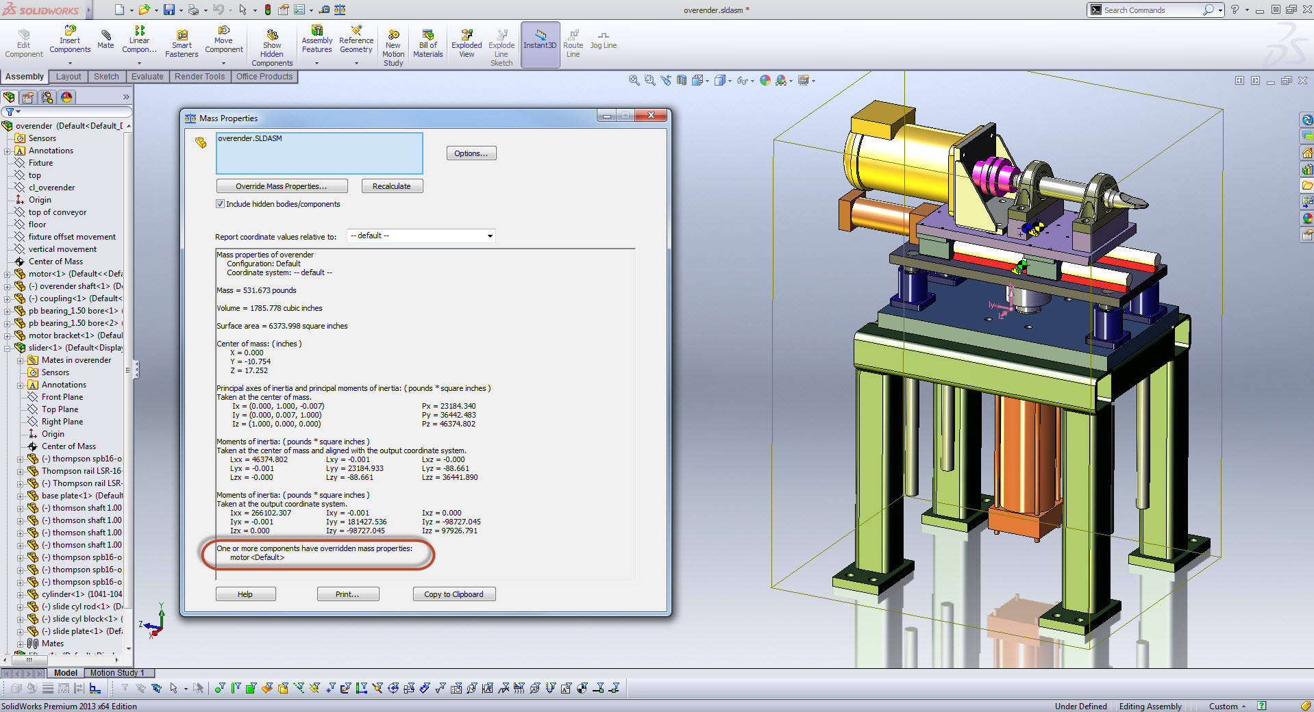 SolidWorks 2013: Mass Properties | Ricky Jordan's Blog