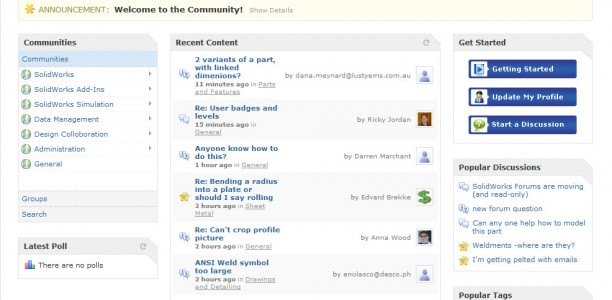 ALL NEW SolidWorks Community (Forum)